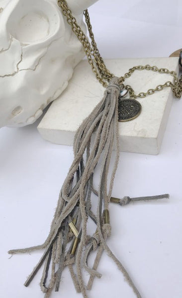Antique Gold Tassel Necklace