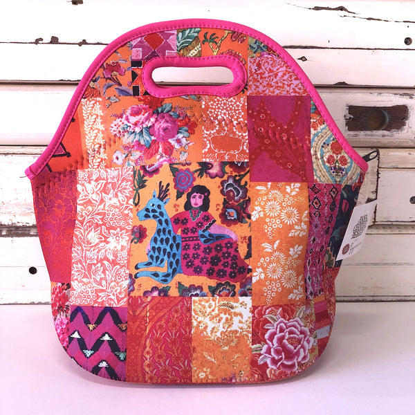 Lunch Bag - Tangerine Patchwork