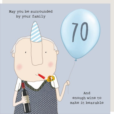 70th Family + Wine Card