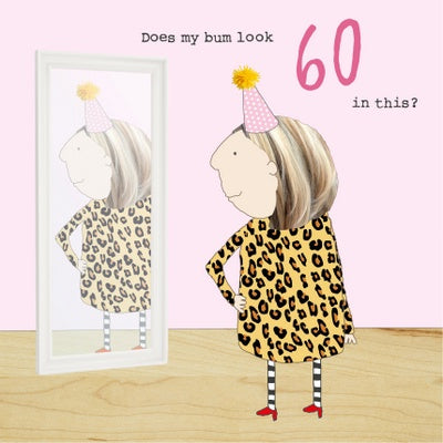 60th Birthday Bum Card