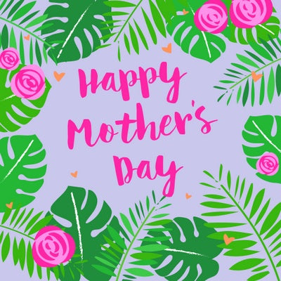 Happy Mothers Day Leaves Card