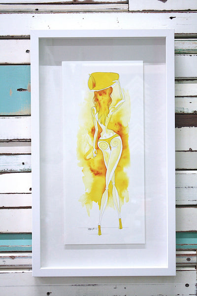 1. OPHELIA > SURFING & SKATING - Framed Print