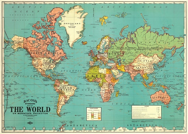Map of the World Artwrap