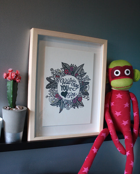 Wild Thing Mandala Print - A4 Shadow Framed