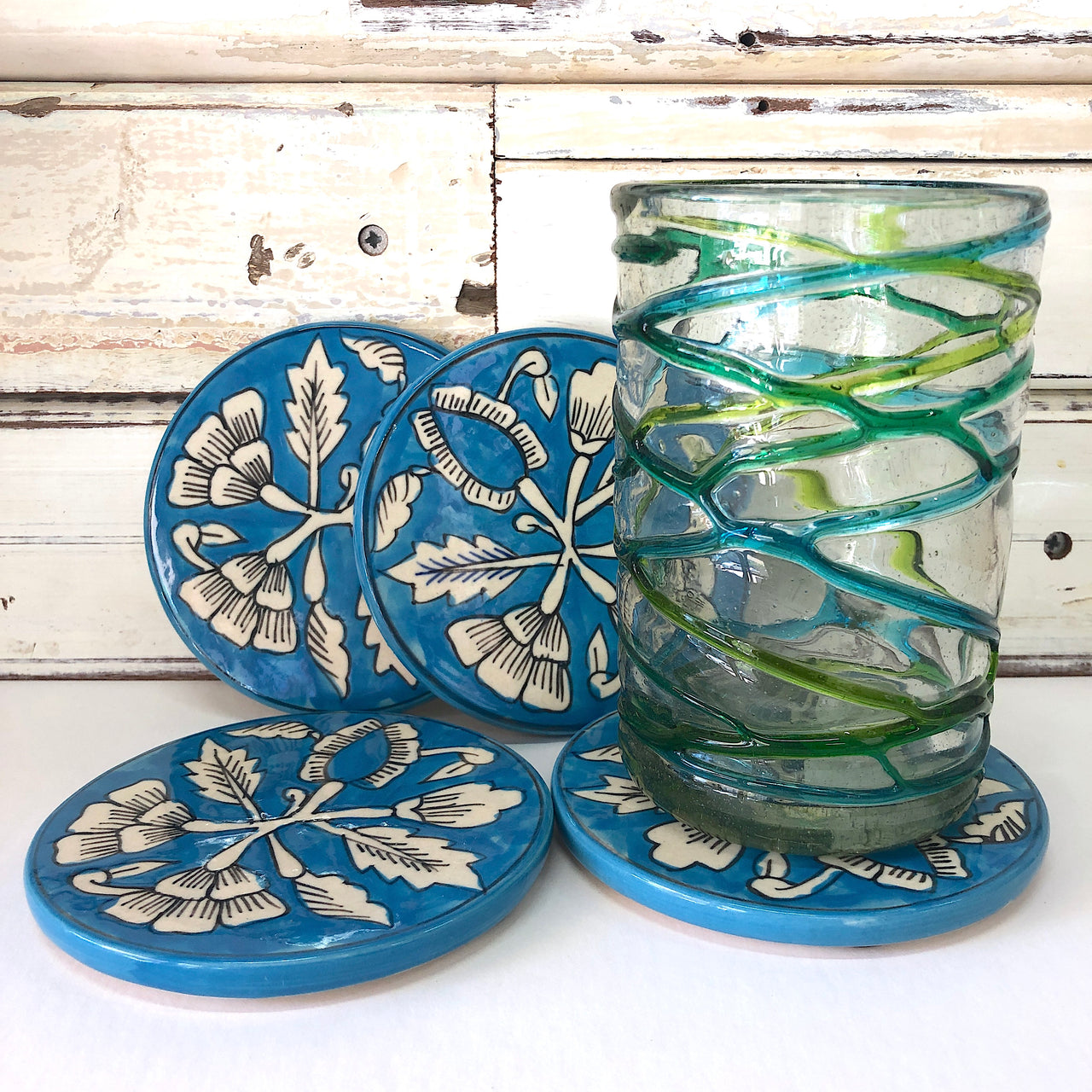 Summer Vine Coasters S/4