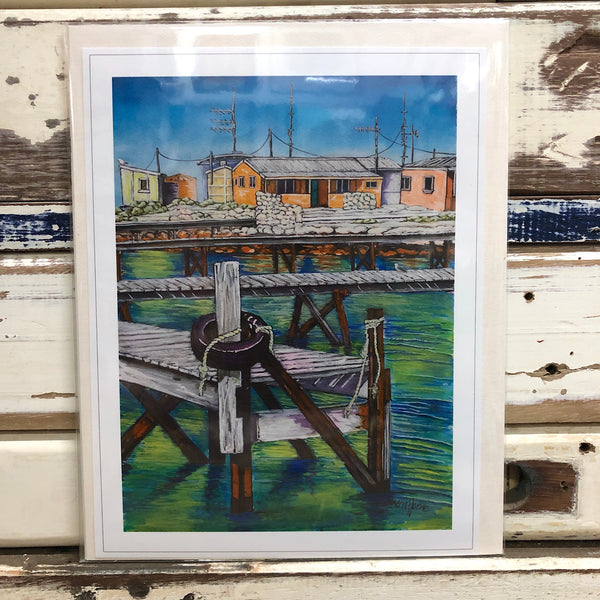 Big Rat Island Camps & Jetties Art Print