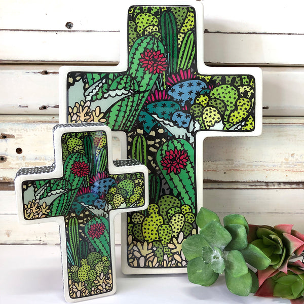 Lost & Found Cactus Cross