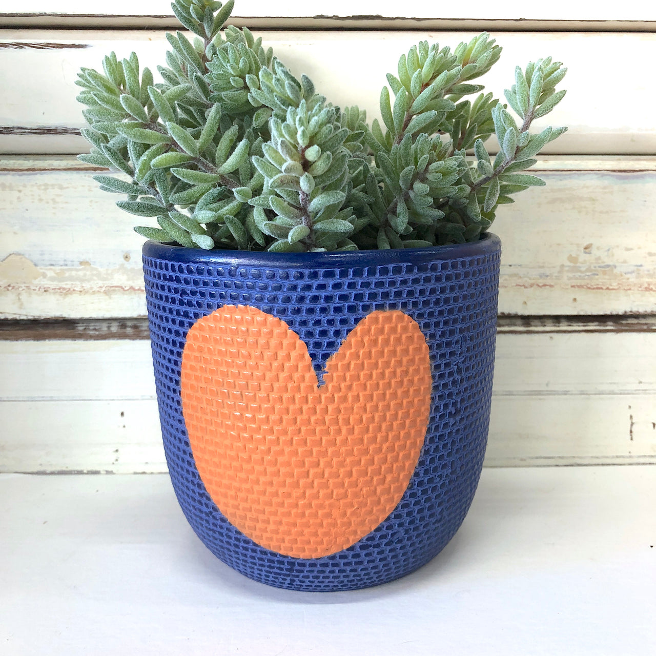 Heart Pot - Indigo