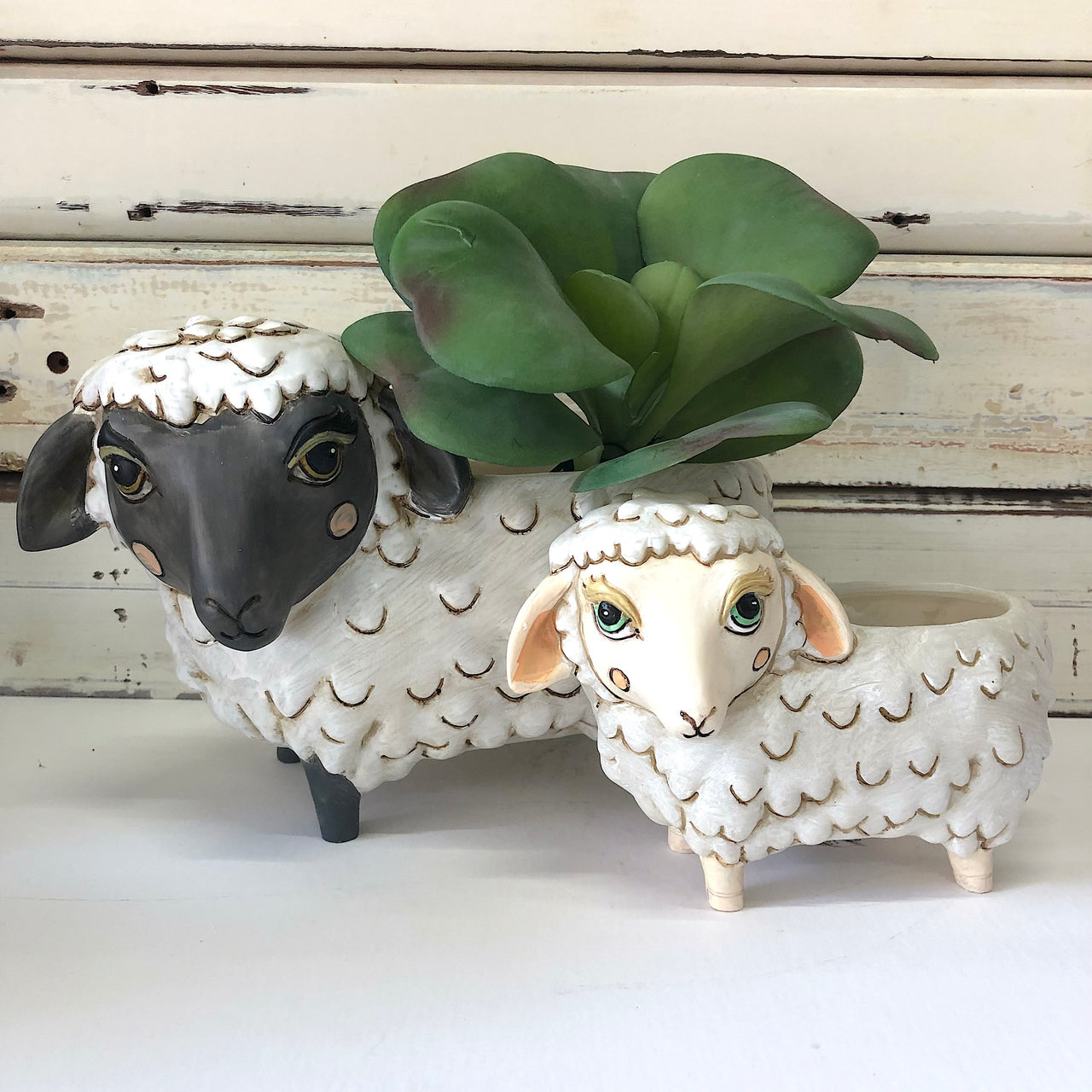Baby White Sheep Planter