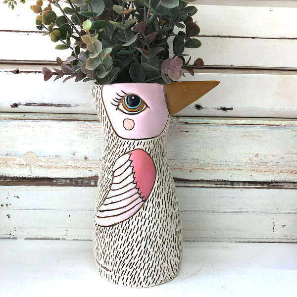 White Bird Watering Can/Vase