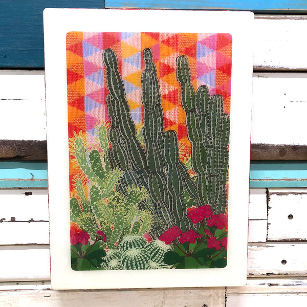 XL Woodblock - Hacienda Garden