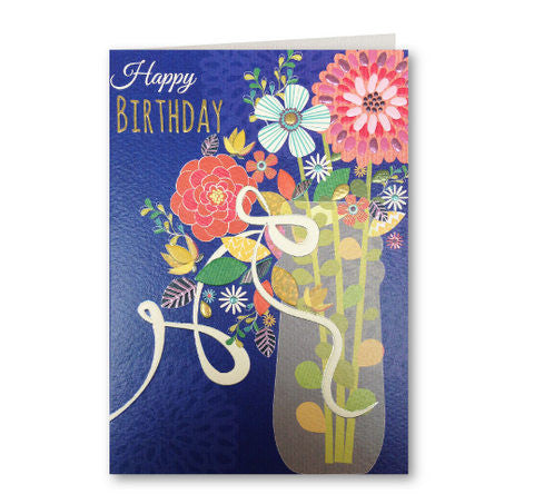 Embossed Flowers Card