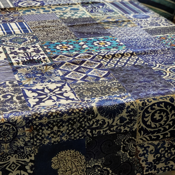 Anna Chandler Tablecloth - Indigo