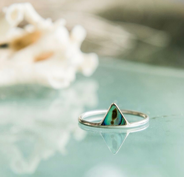 Ocean Warrior Paua Shell Ring