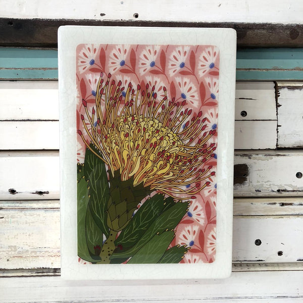 Maxi Woodblock - Pincushion Protea