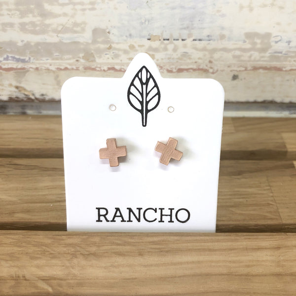 X Rose Gold Stud Earrings