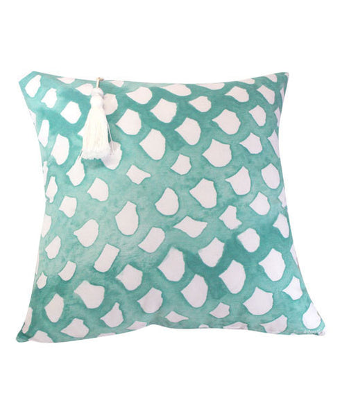 Mint Scales Cushion - 50x50cm