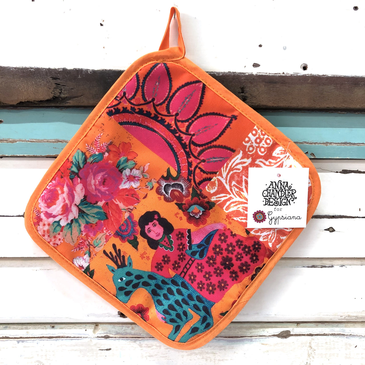 Pot Holder - Tangerine Patchwork
