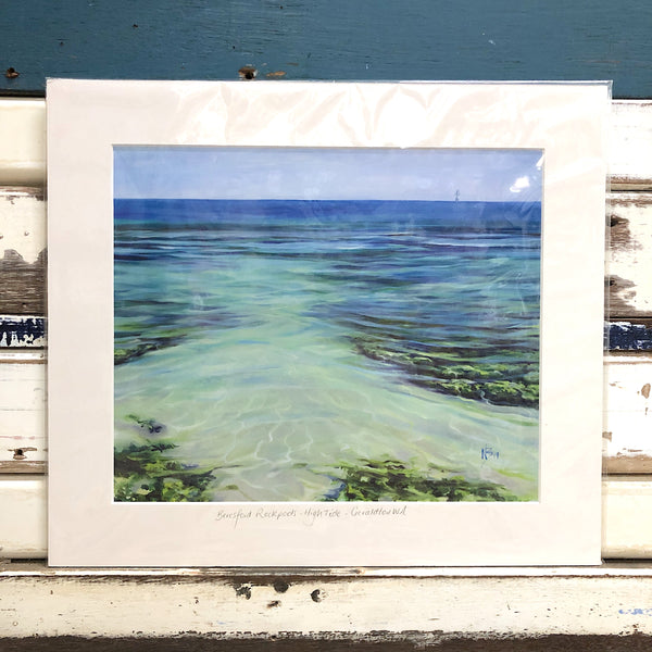 Beresford Rockpools - High Tide Art Print