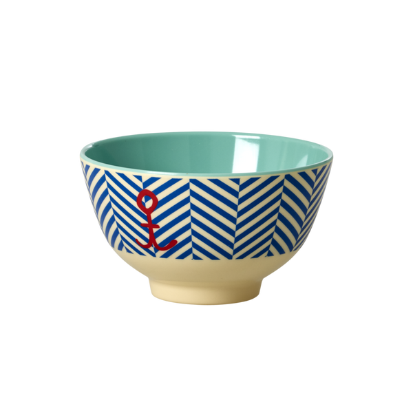 Rice Bowl - Sailor Stripe & Anchor