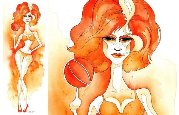 AMELIE > BASKETBALL - Art Print