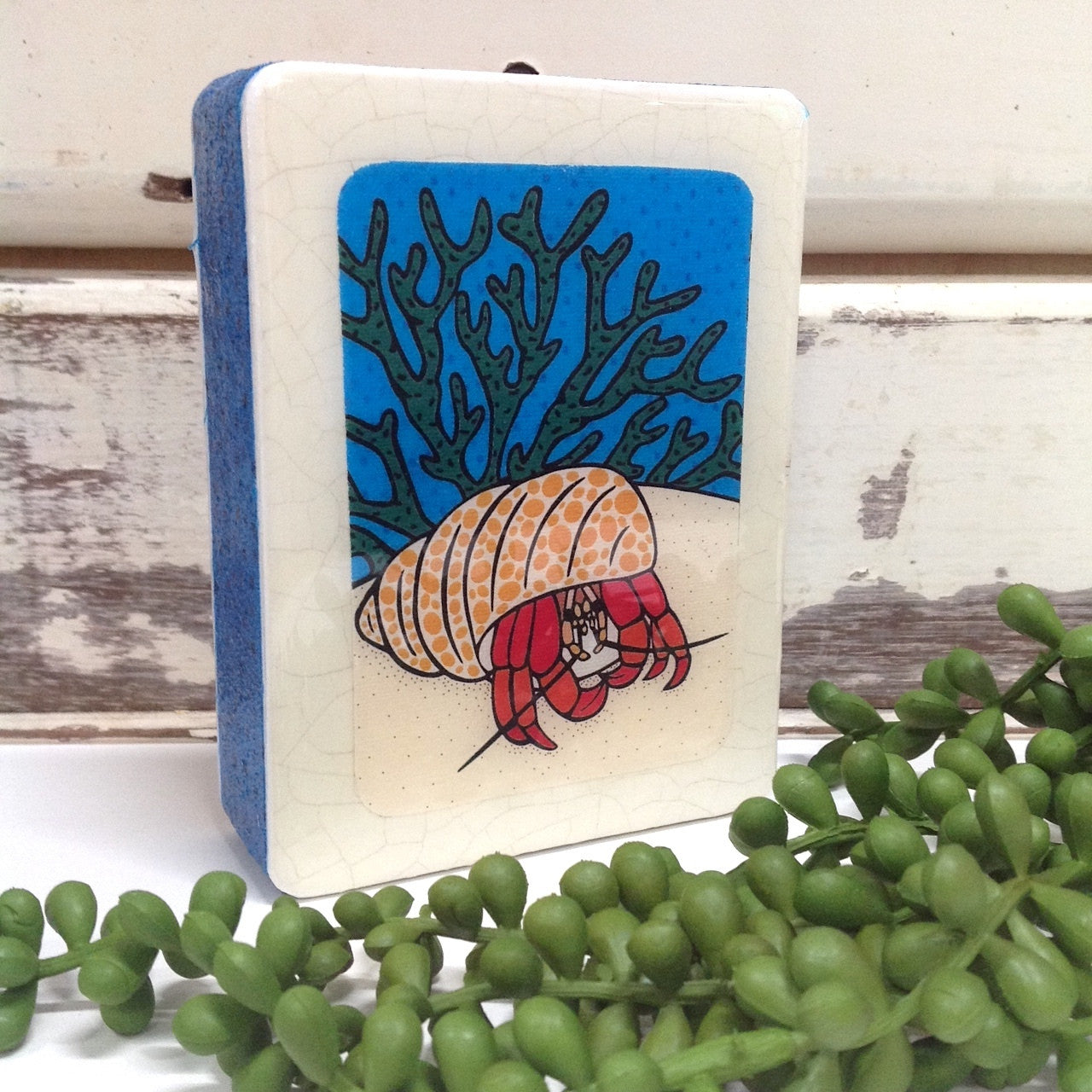 Mini Woodblock - Hermit Crab
