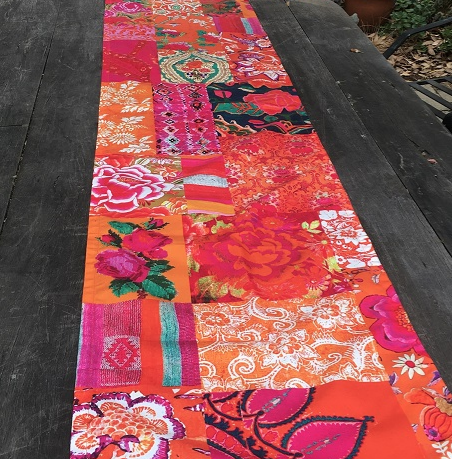 Table Runner - Tangerine Patchwork