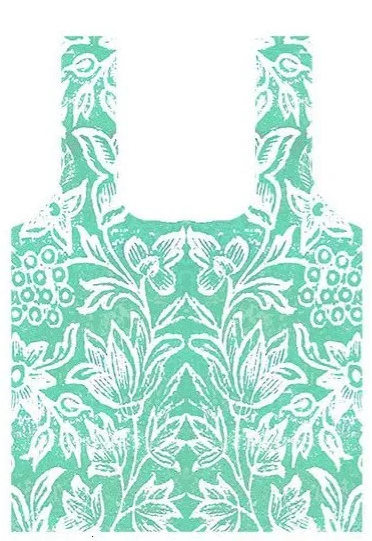 Fold-Up Shopping Bag - Spice Island Verdigris