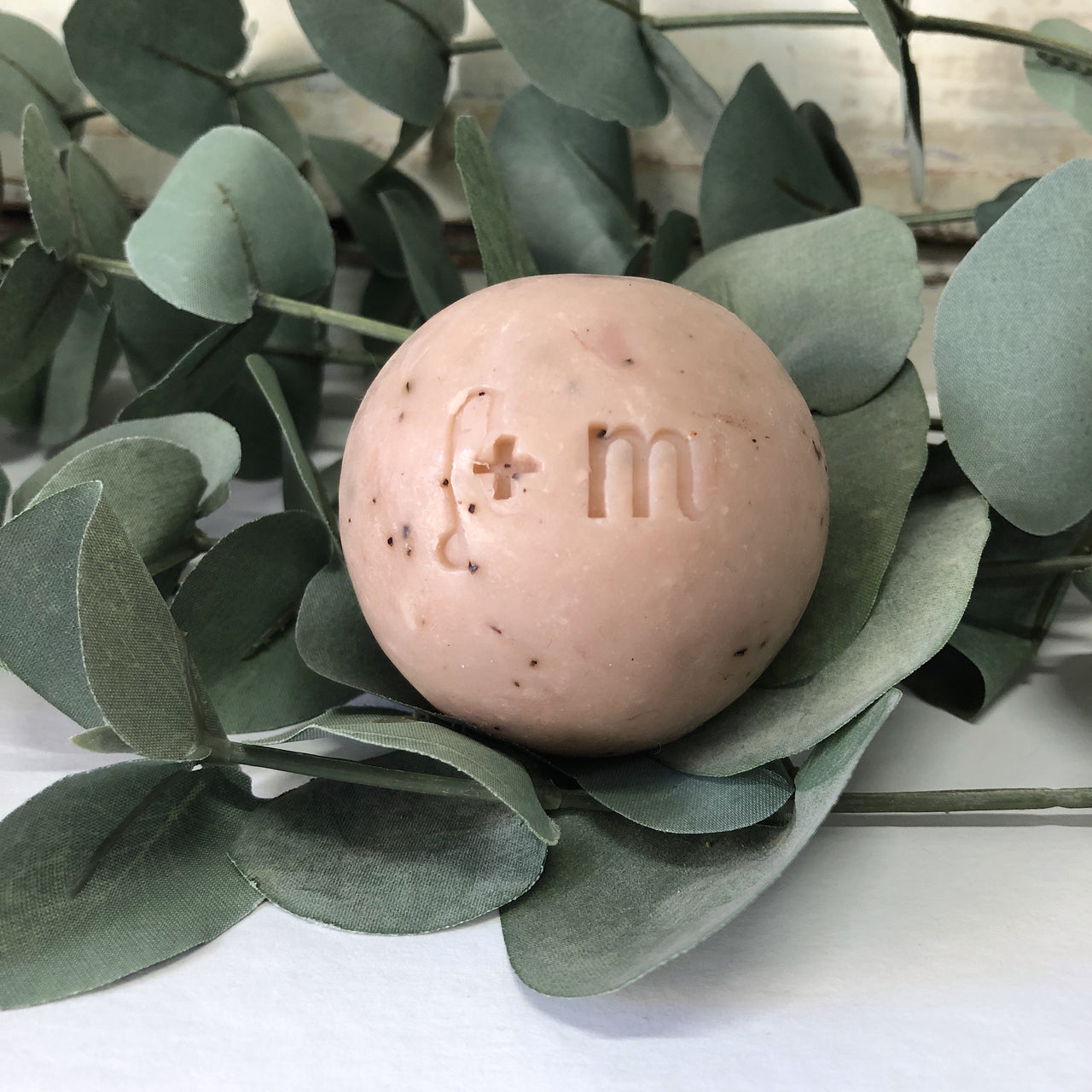 Handrolled Soap Ball - Red Clay