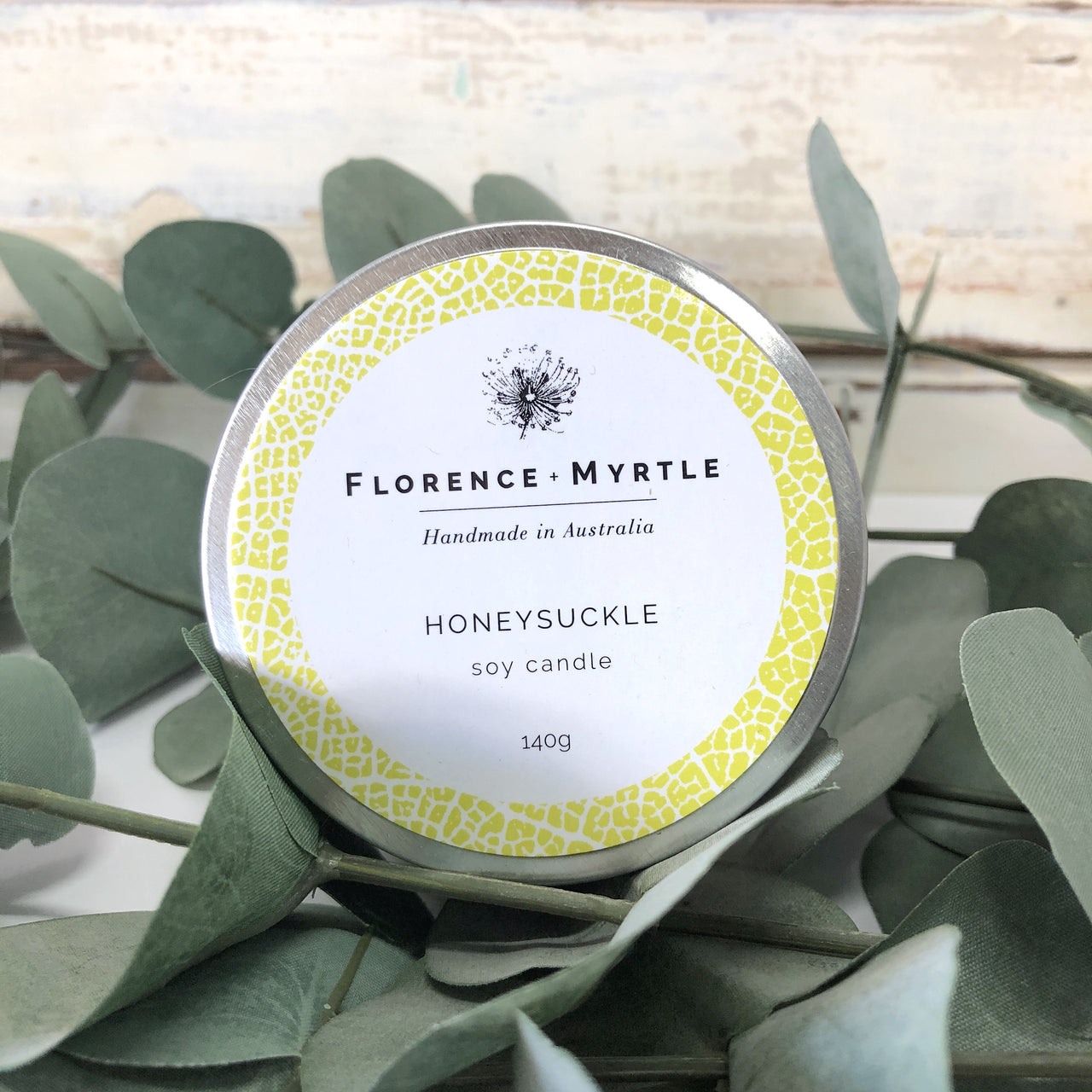 Soy Candle Travel Tin - Honeysuckle
