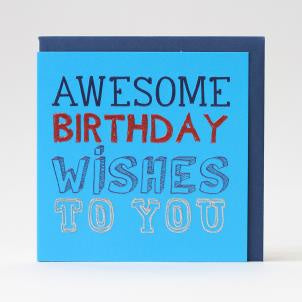 Awesome Birthday Wishes Card