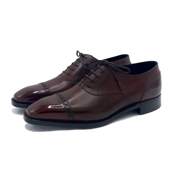 Marron Mediterraneo Cap Toe Oxford Shoe