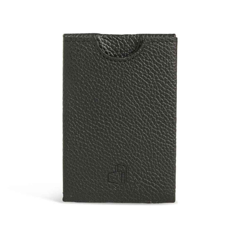 Genoa Black Grained Leather RFID Card Holder