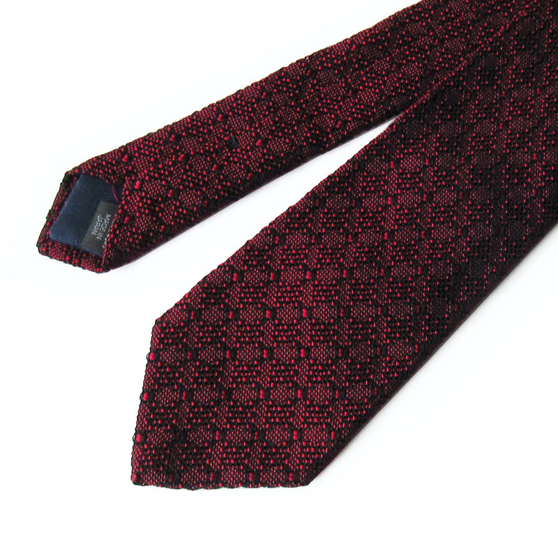 Lattice Jacquard Tie (Wine)