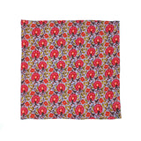 Kevin Seah Hand Block Print Pocket Square - Lavender / Red / Pink