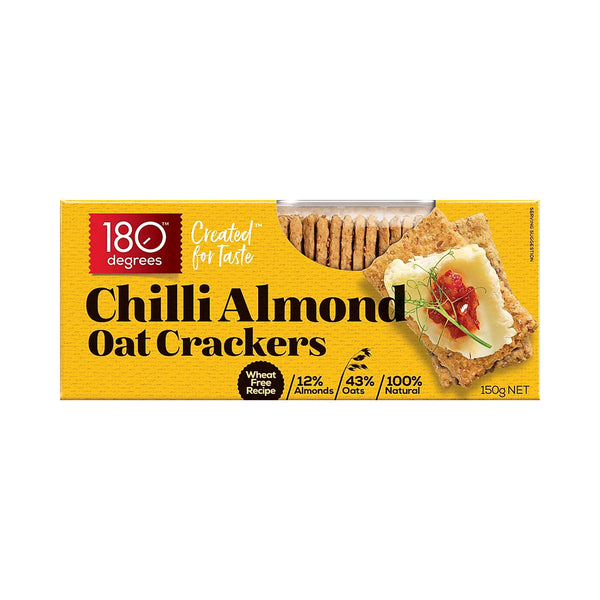 Chilli Almond Oat Crackers - 150g