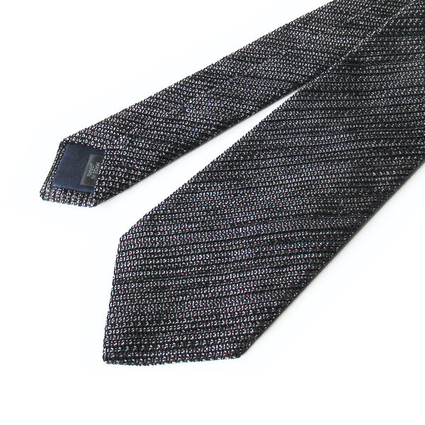 Kasuri Mix Thai Tie (Black x White)