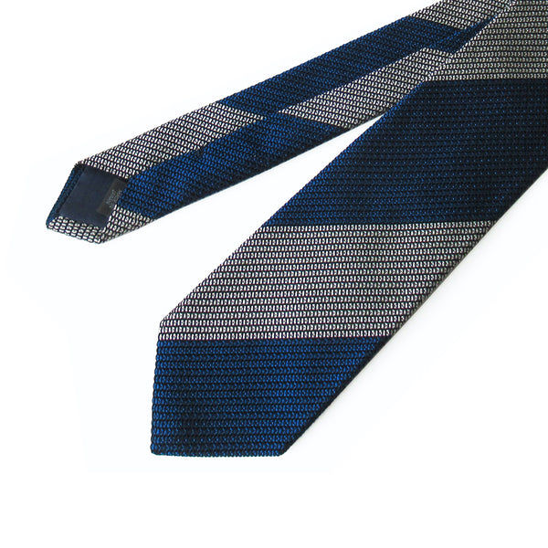 Fresco Regimental Thai Tie (Navy x White)