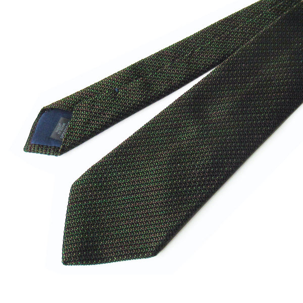 Kasuri Mix Thai Tie (Dark Brown x Green)