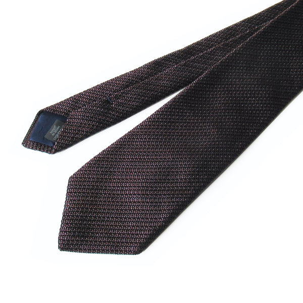 Kasuri Mix Thai Tie (Dark Brown x Charcoal Gray)
