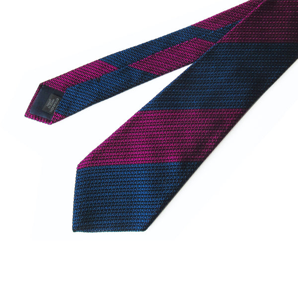 Fresco Regimental Thai Tie (Navy x Purple)