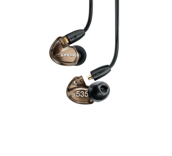 SE535 Wireless Sound-Isolating Earphones with Bluetooth 5.0 and 3.5mm In-Line Remote/Mic Cables (Bronze)