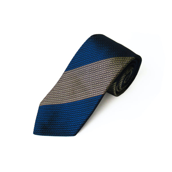 Fresco Regimental Thai Tie (Navy x Gold)