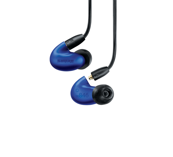 SE846 Sound-Isolating Earphones with Bluetooth 5.0 and Wired Accessory Cables (Blue)
