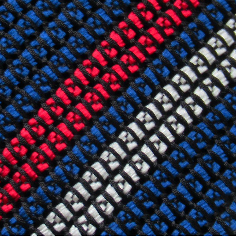 2 Line Regimental Tie (Navy x Red)