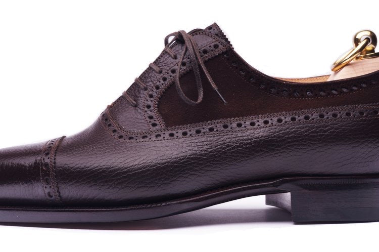 Dark Brown Bull and Suede Oxfords