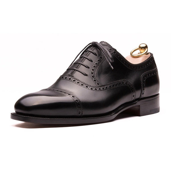 Black Calf Classic Brogue Oxfords