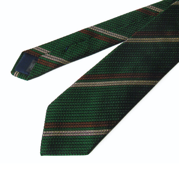2 Line Regimental Tie (Green)