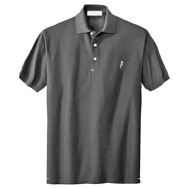The Classic Kevin Seah Polo Shirt (Grey / Light Pink  Logo)