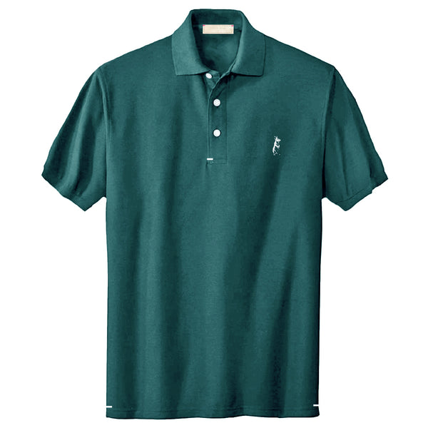 The Classic Kevin Seah Polo Shirt (Green / White Logo)